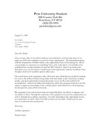 Gallery Of Student Cover Letter Examples Ideas Cover Letter Example
