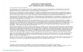 Church Anniversary Program Template Fresh Sample Invitation Letter ...
