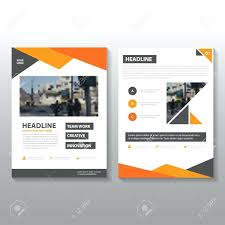 brochure flyer template orange vector annual report leaflet design book cover layout abstract templates free