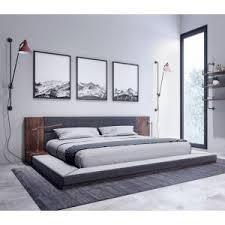 black modern bedroom furniture. nova domus jagger modern dark grey \u0026 walnut bed black bedroom furniture e