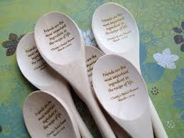 The Wooden Spoon Game Engraved Wooden Spoon with Friendship Quote Bridal Shower Guest 48