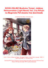 Mushoku Tensei Light Novel Download Book Online Mushoku Tensei Jobless Reincarnation Light