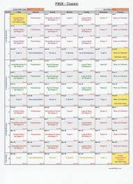 P90x Excel Spreadsheet Choose The Workout Style And Put In