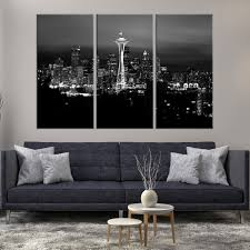 large wall art seattle canvas print black and white seattle landscape mygreatcanvas com extra large wall art wall art print large world map canvas