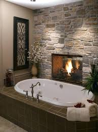bathroom electric fireplaceimage via styles bathroom wall