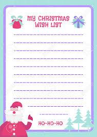 Santa List Template Stock Illustration