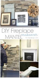 stone fireplace mantle stack stone fireplace makeover with gray mantel great mix of rustic modern decor stone fireplace mantle