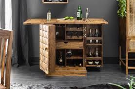 Casa Padrino Designer Bar Cabinet Natural Brown 65 130 X 50 X H 90 Cm Modern Solid Wood Bar Cabinet With 2 Doors And Drawer Bar Furniture