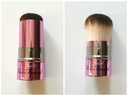 too faced kabuki brush. too faced retractable kabuki - it feels softer than teddy bear hair! too faced brush