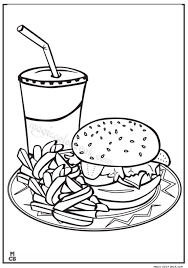 Small Picture Fast Food Coloring Pages