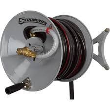 strongway wall mount garden hose reel holds 150ft x 5 8in hose