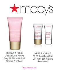 receive a free 3 piece bonus gift with your 85 clarins purchase