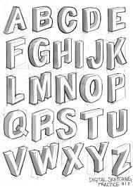how to draw 3d letters a z alphabet kids 3d az