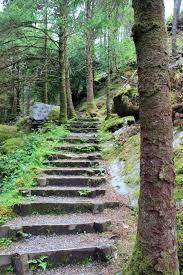 gougane barra ireland stone staircase