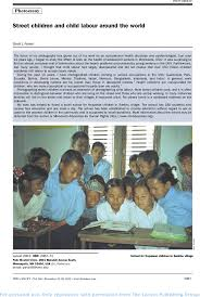 street children and child labour around the world the lancet first page of article