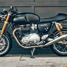 triumph thruxton r with kit track racer motos pinterest