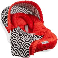 cat canopy 5 pc whole caboodle baby car seat cover set no car seat included minky solomon com
