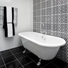 monochrome tiled bathroom
