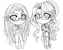 Small Picture Anime coloring pages chibi girls ColoringStar