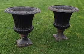 large cast iron garden urns