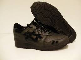 mens asics running shoes gel lyte iii black leather size 10 us