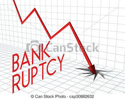 Down Arrow Chart Bankruptcy Chart Crisis And Down Arrow