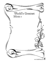 World S Greatest Mom Coloring Page