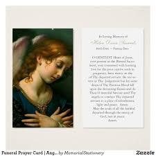 Funeral Prayer Cards Funeral Prayer Card Angels Among Us Angel Funeral Prayer Cards