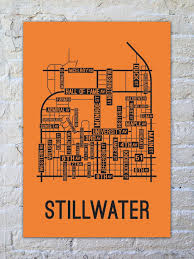 stillwater oklahoma street map print from school street posters