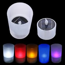 Flameless Candle Plug In Night Light 2016 New Arrivals Light Sensor Solar Led Night Light Candle Lamp Colorful Changing Plastic Flameless For Party Decoration