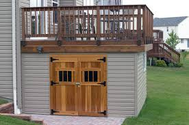 Deck Designs With Storage Underneath Panofish Blog Building A Shed Under A Deck Brilliant Use
