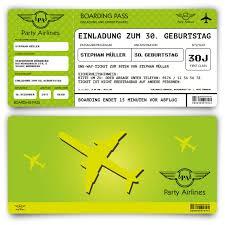 Der gesamtpreis eines flugtickets setzt sich aus mehreren komponenten zusammen. Einladungskarten Als Flugticket In Grun Zum Geburtstag Bestellen