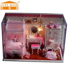 cheap wooden dollhouse furniture. 2016 hot sale decoration crafts diy doll house wooden houses miniature dollhouse furniture kit room led cheap