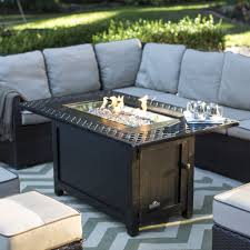 firepit tables inspirational napoleon victorian rectangle patioflame gas fire pit table hayneedle