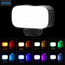 ESCAM ULANZI Đèn LED Video Mini RGB VL15, Dành Cho Điện Thoại Thông Minh  SLR Camera Youtube Tiktok Live Vlog Lighting - Đèn Flash Selfie - Flash Mini