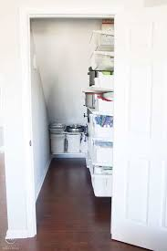 how to organize a closet under the stairs