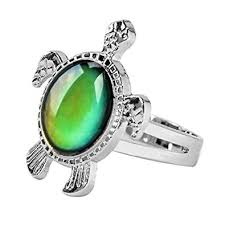 Buy Mermaid Girls Turtle Mood Ring With Color Chart And