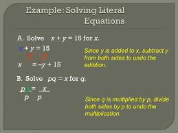 example solving literal equations