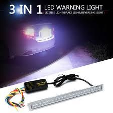 Vintage Reverse Lights New Dc 12v 24led Car License Plate Backup Reverse Brake Rear Light Bar Red White Rgb Tail Brake Stop Turn Signal Lamp