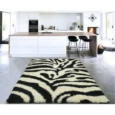 black white rug cozy collection black and white 5 ft x 7 ft indoor area black white rug