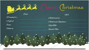 gift certificates format christmas gift certificate template dark night design