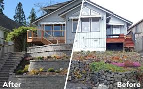 before and after retaining wall and decks before and after retaining wall and decks