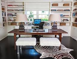 two desk home office. Plain Two Home Office For Two With Desks Transitional  Denlibraryoffice Interior Designing Ideas Intended Two Desk Home Office F