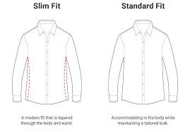 Standard Fit Size Chart Our Better Fit Ash Erie