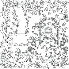 Secret Garden Coloring Pages Hidden Book Colouring Examples Page