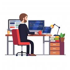 office desk pictures. Professional Programmer Engineer Writing Code Office Desk Pictures