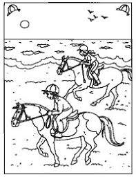 Kleurplaten Paarden Op Het Strand