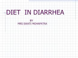 Diet In Diarrhea