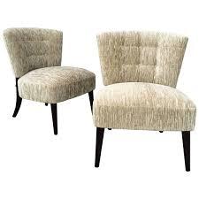 midcentury hollywood regency velvet slipper chairs by kroehler