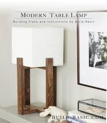Diy Wood Floor Lamp Build This Diy Modern Table Lamp Building Plans And Instructions